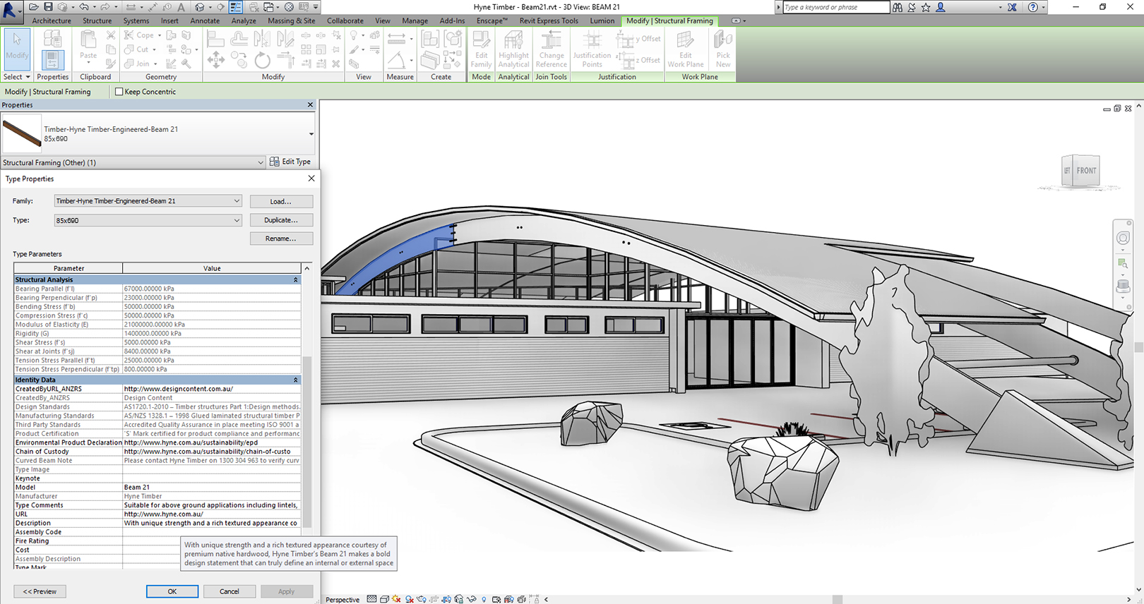 Beam 21 Curved in Revit